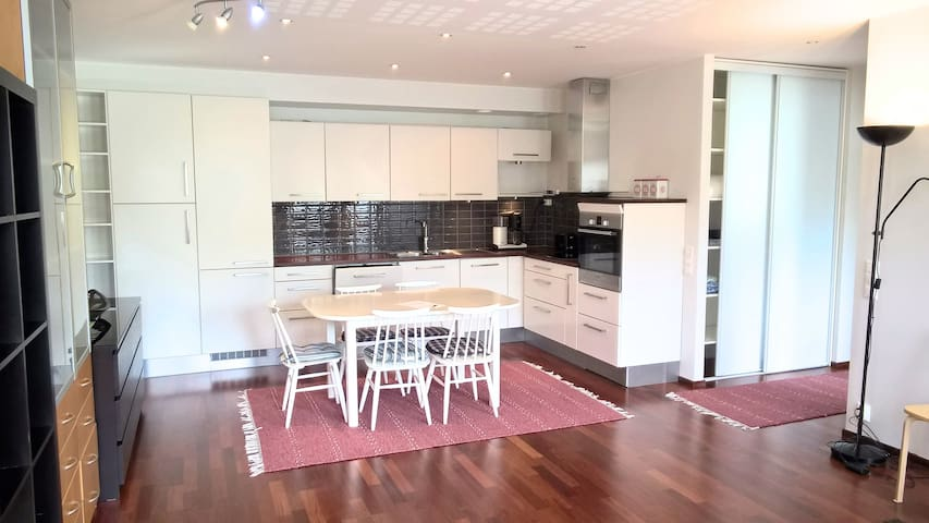 Two bedroom apartment with sauna, near city