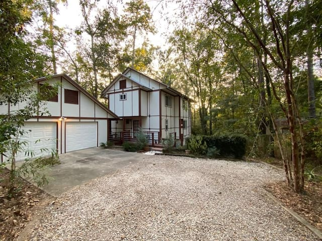 Modern central Tallahassee studio w/ forest views.