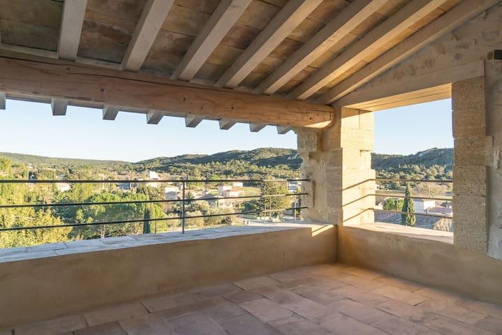 Maison piscine pierre et design, Pont du Gard Uzès