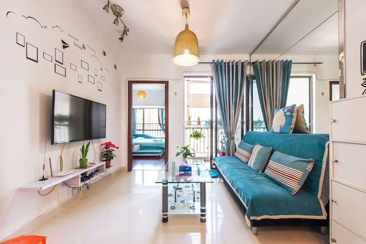 蓝蓝公寓(深圳福田CBD 地铁口 新洲家乐福旁 - Shenzhen - Apartamento