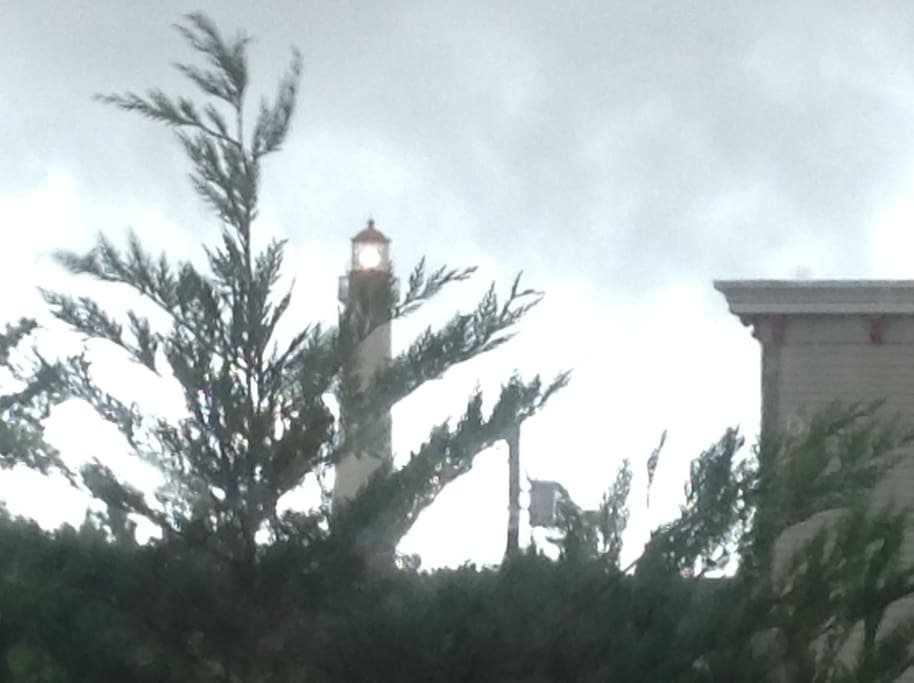 The lighthouse will serve as your night light!