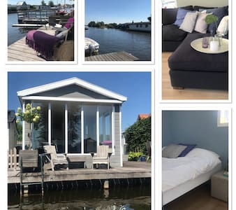 Cottage in the Amsterdam lake area incl elec. boat