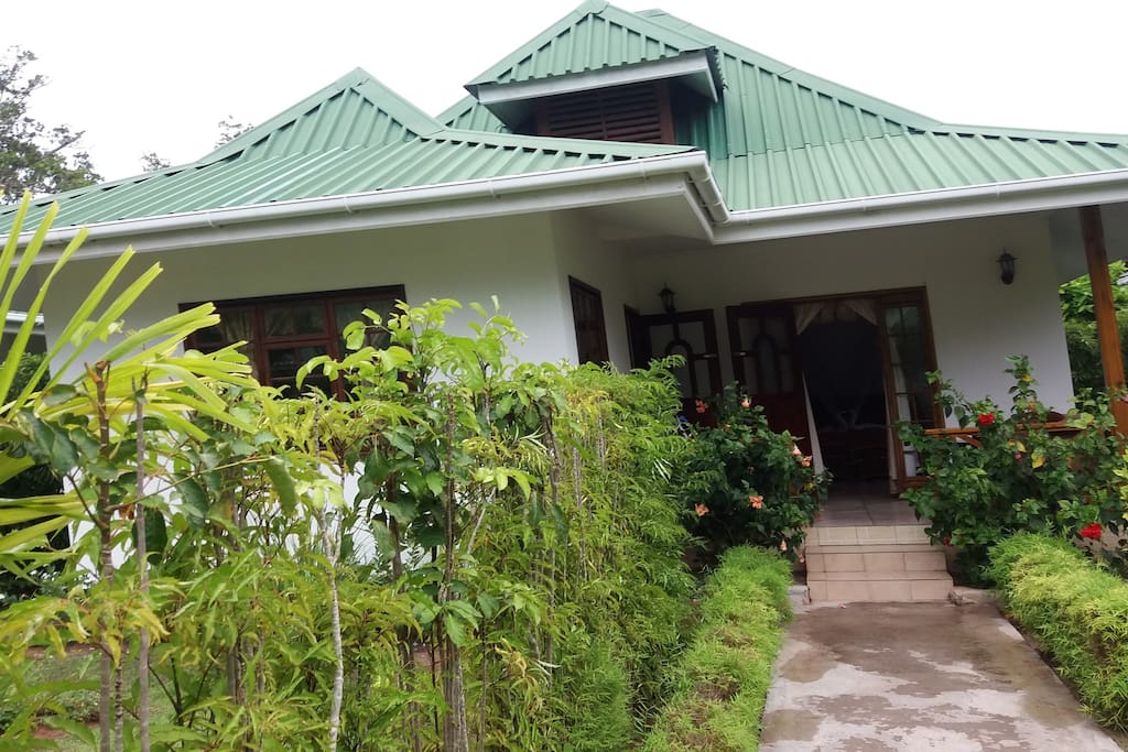 Front of a 1 bedroom chalet/We also have 2 bedroom chalet available