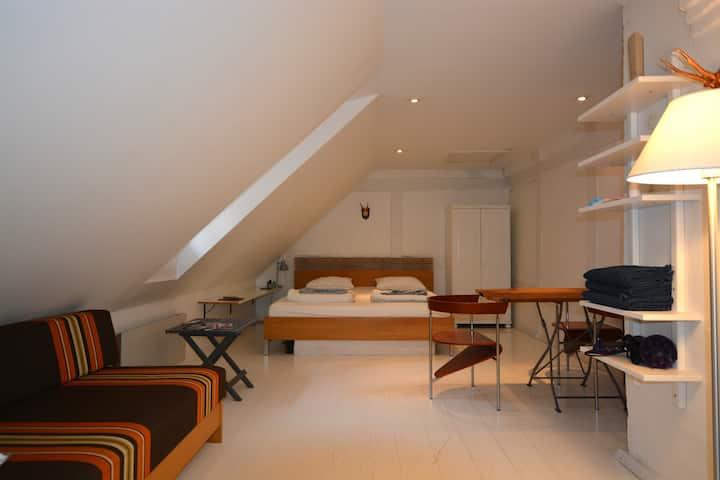 Penthouse room in central Copenhagen
