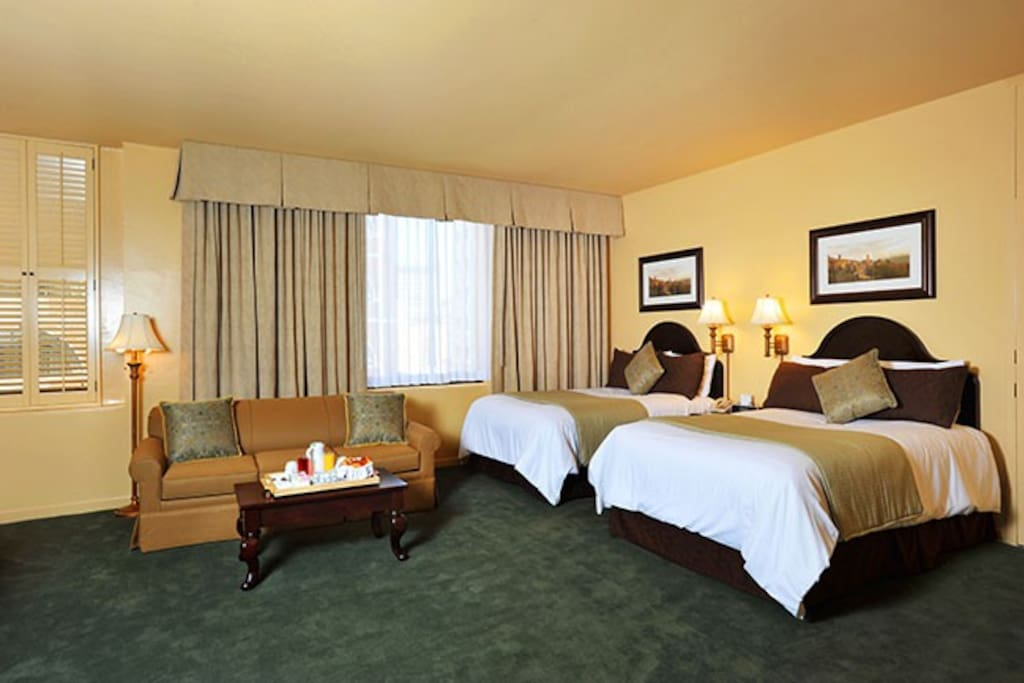 Donatello hotel room union square 2 double beds - 2 bedroom hotels in san francisco ...