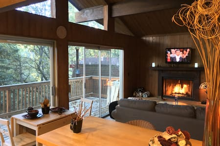 Great Comfort mountain cabin  w. AC & EV-L2 - Hus