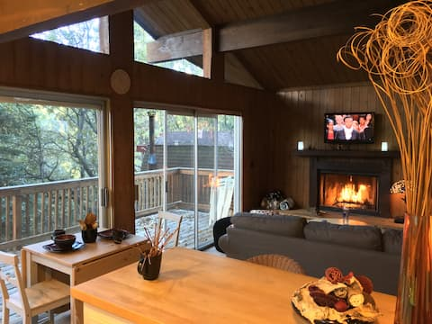 Romantic Mountain cabin with full AC & EV charging