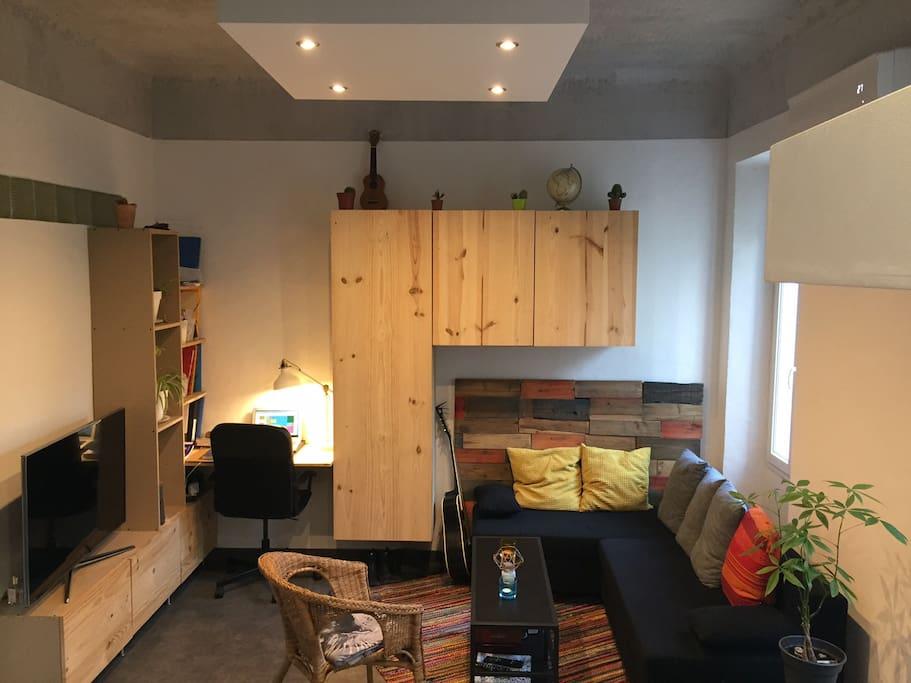 Salon cosy - canapé lit 140x190