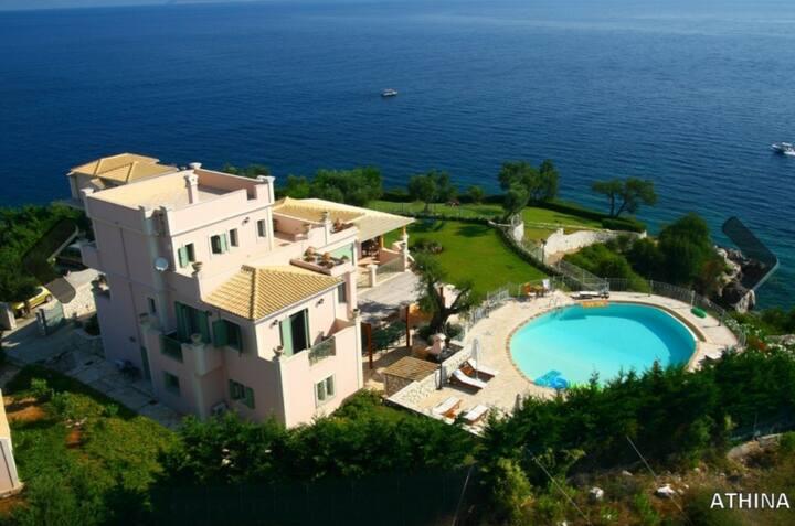 corfu  kassiopi  prime location luxurious villa