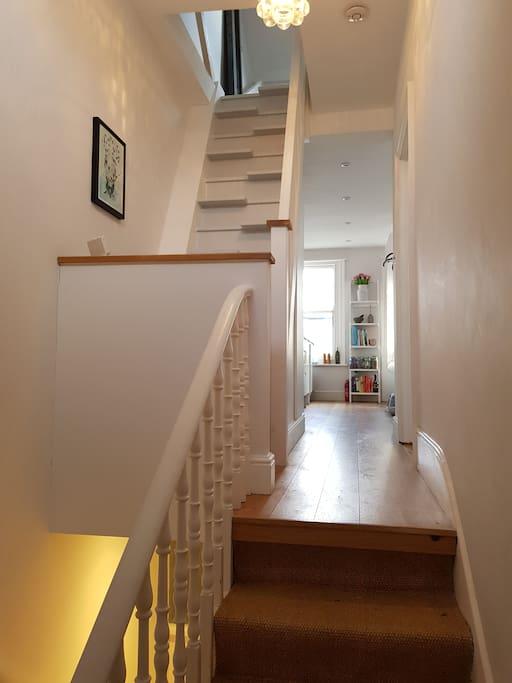 Open plan, wooden floors throughout