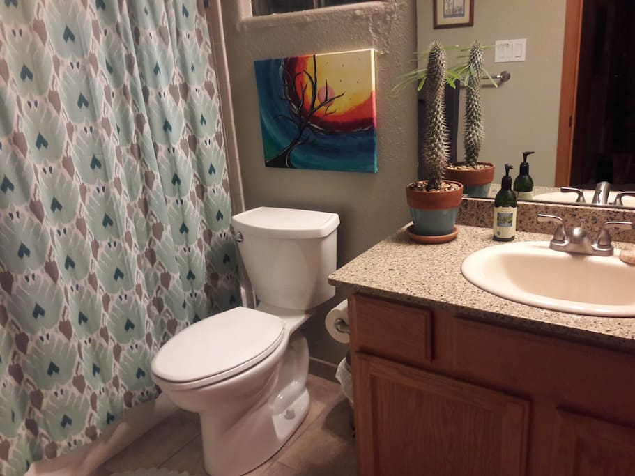 Private bath detached from private guest room