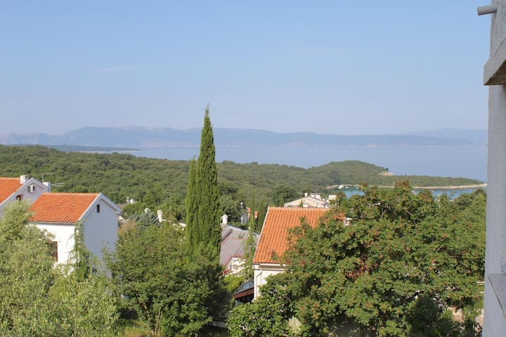 Studio flat with terrace and sea view Njivice, Krk (AS-5458-a)