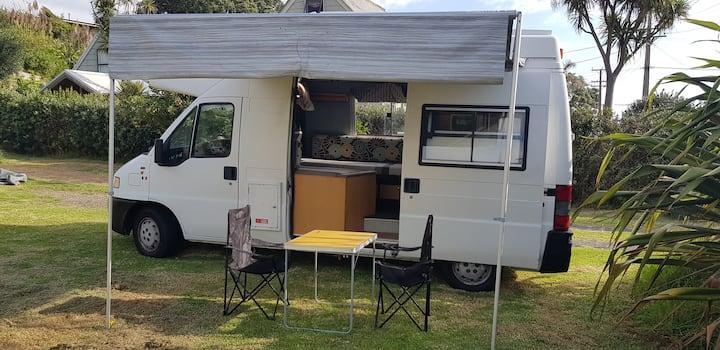 Character big-little campervan by bush 'n beach