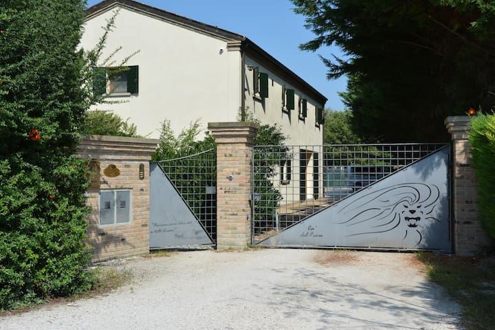 Refined country house near Venice with large park.
