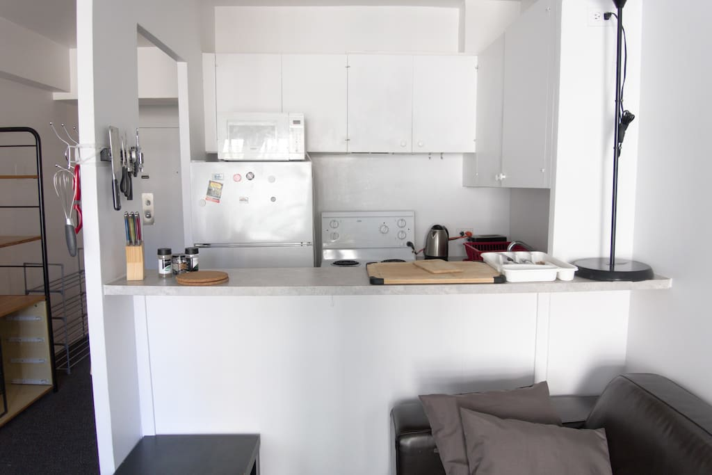 Open style kitchen that gives you plenty of light and space while cooking