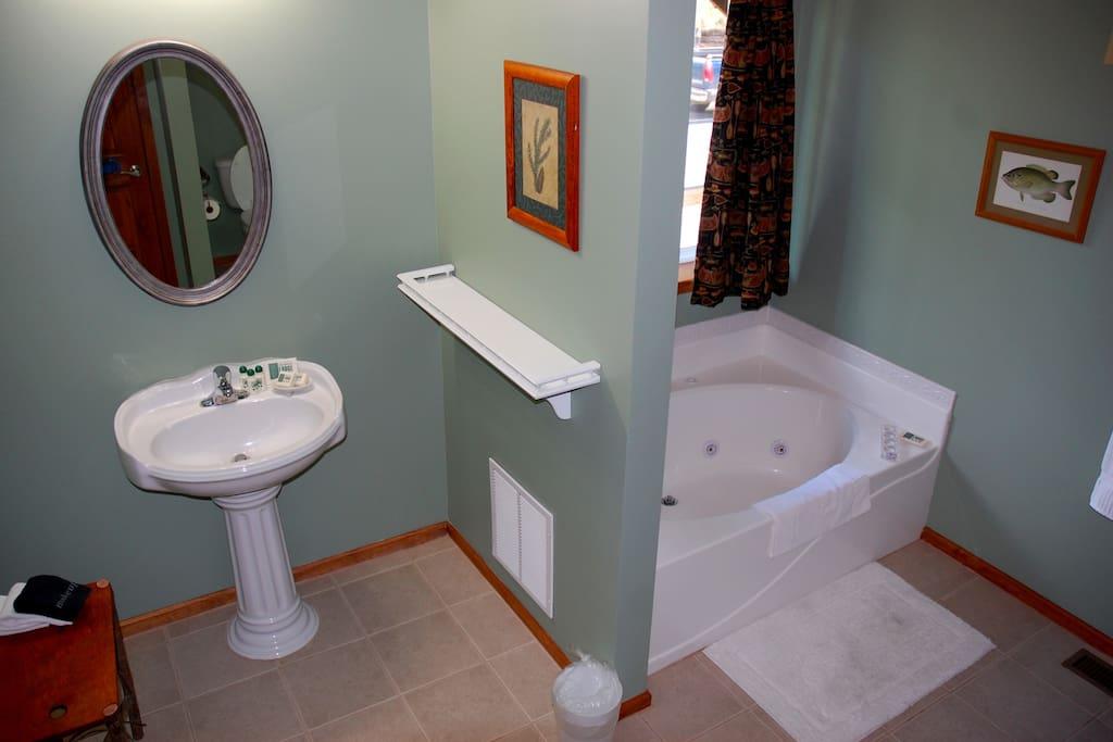 full ADA compliant, jetted garden tub & separate walk-in shower