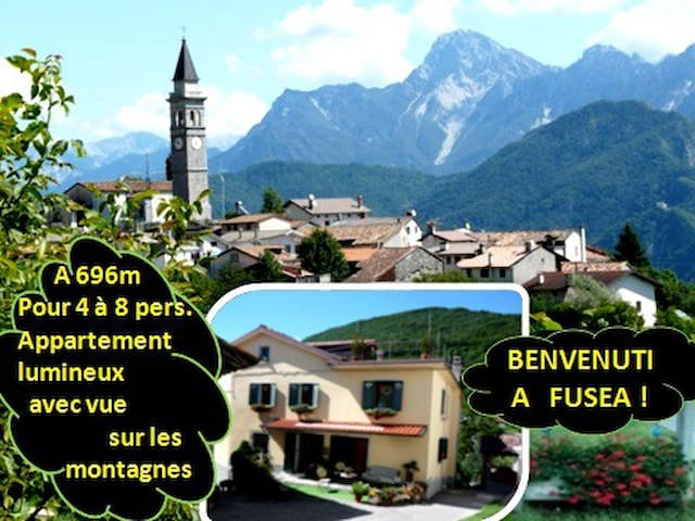 4 à 8 single/Sportifs/Amis/Gr. appart. en montagne - Tolmezzo