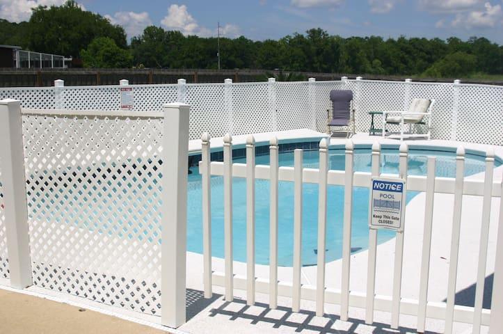 Welcome! Mi Casa Es Tu Casa Pool House Apartment Overlooks Pool Area. Pool Furniture and Inflatable