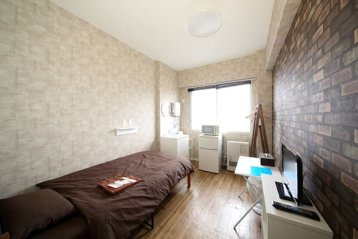 4 min to Sta/Free Wi-Fi/single room/non-smoking