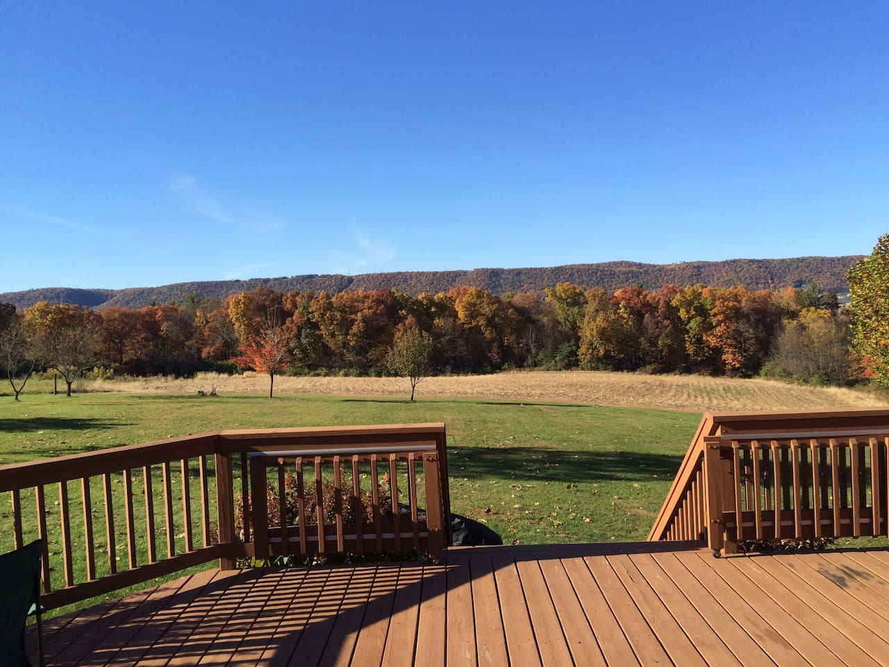 Deck view of Purdue Mountain