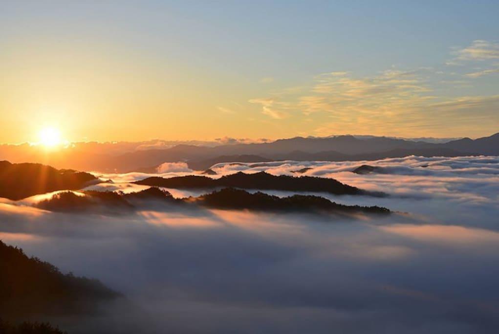 有名な野迫川村開運!雲海!が観れる宿です。