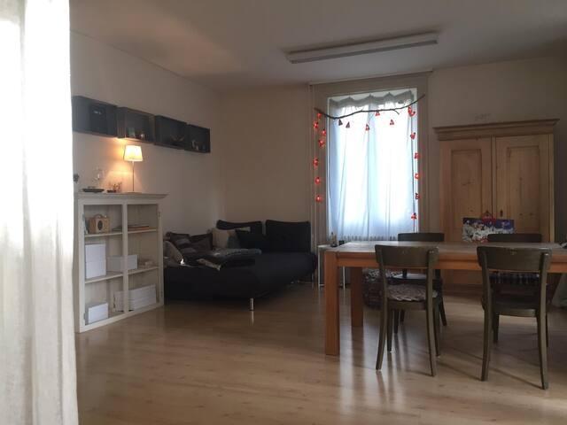 cozy livingroom&bedroom, incl. babybed