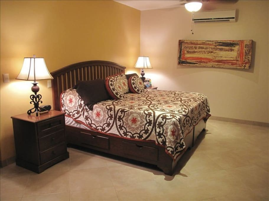 Master Bedroom, Kins size bed with private balcony.