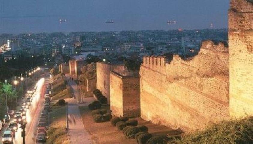 Byzantine Walls of Ano Poli- 5 minutes walking distance