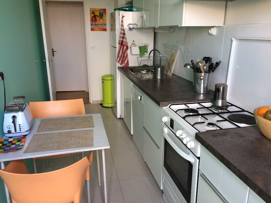 Brand new kitchen  with dish washer, micro wave, oven etc.