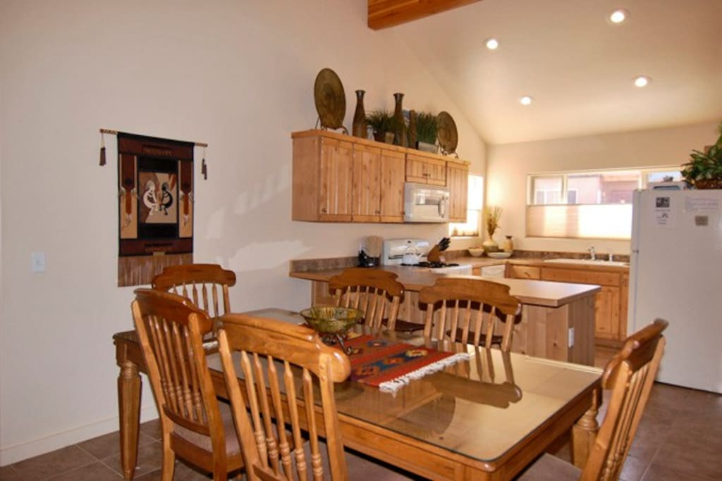 Large family dining area directly off kitchen and living room