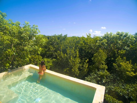 ★★★★★ Tulum Oasis Private Rooftop Pool