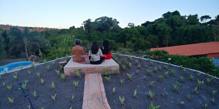 Oásis de natureza, relaxamento e cura em Brasília