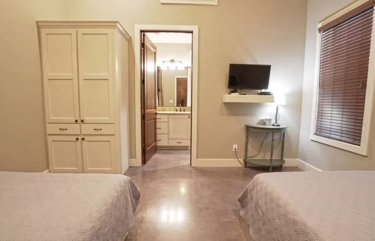 Room 1: sleeps 4, with your own bathroom and closet space!