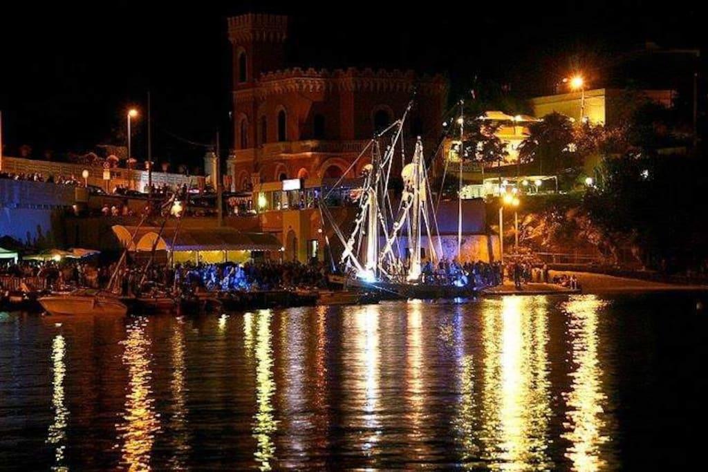 Tricase Porto: il Porto di sera