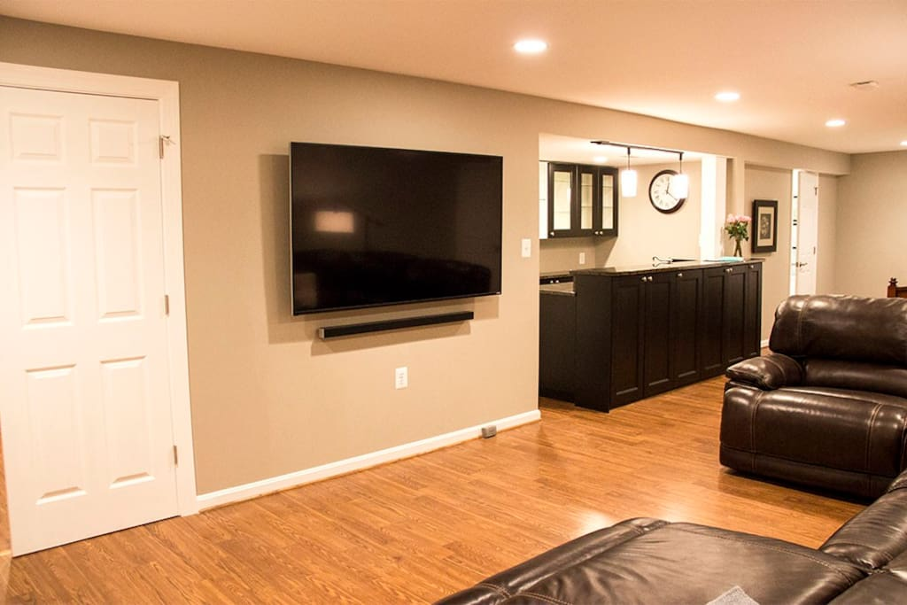 Large private suite with wet bar, private bathroom and large TV!
