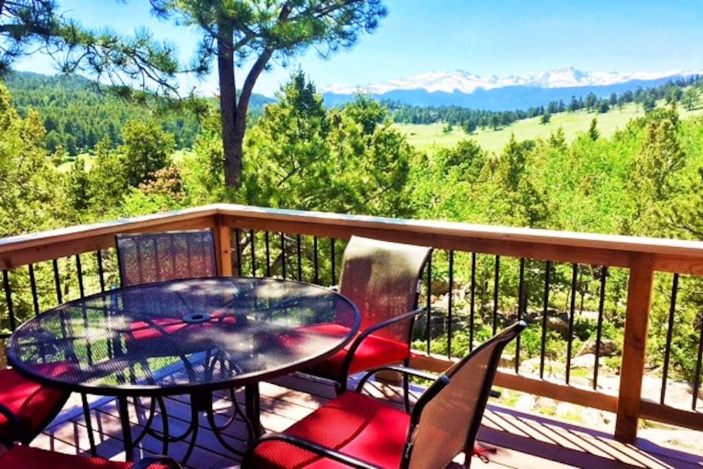 Brand new deck is perched on a hill giving it an open, bright and spacious feeling.