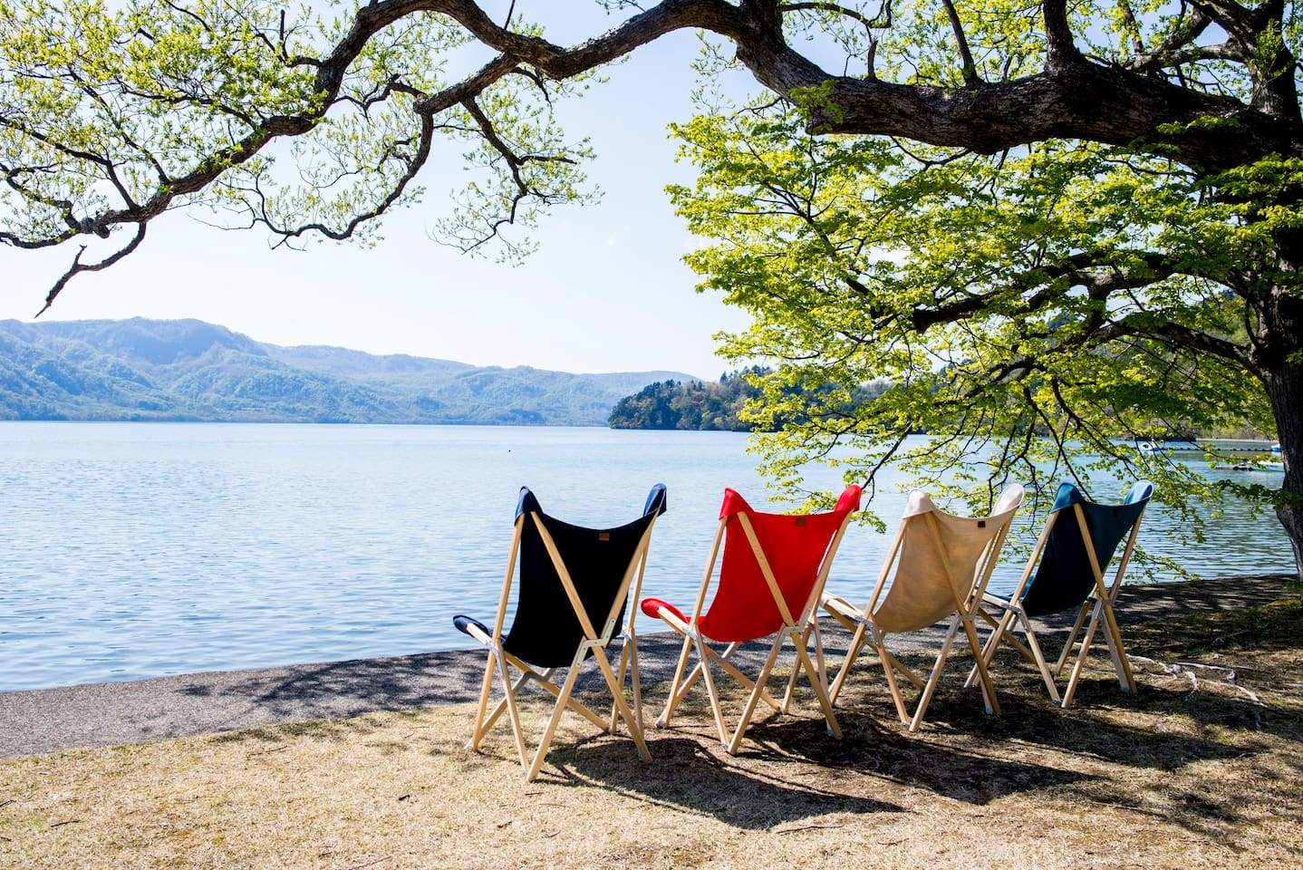 """yamaju"" Everything for the lake-towada.  Chair for relaxing (membership only)."