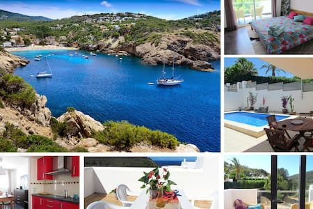 Villa in nature with pool, seaview - Sant Josep de sa Talaia