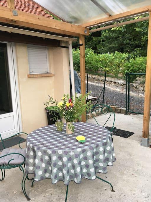 Terrasse couverte privée