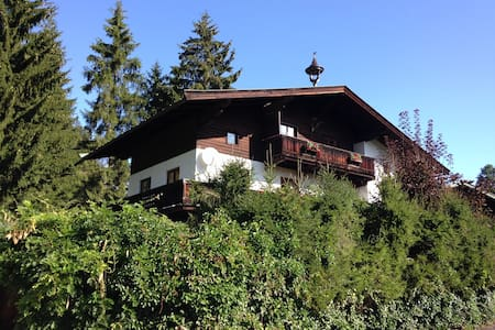 Sunny flat with garden and sauna near Schwarzsee