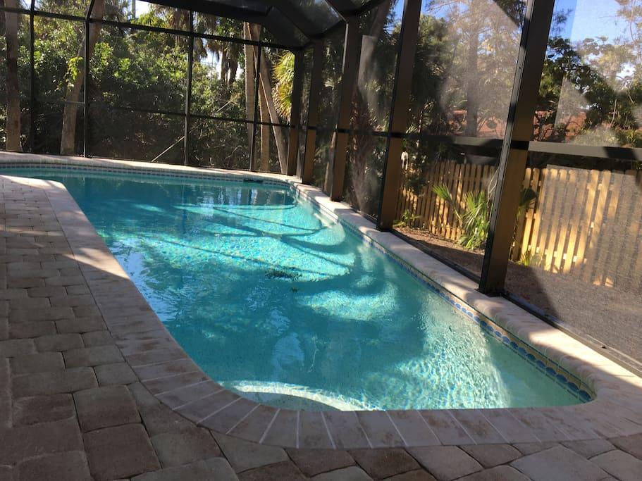 Brand new, heated, salt-water, private pool.