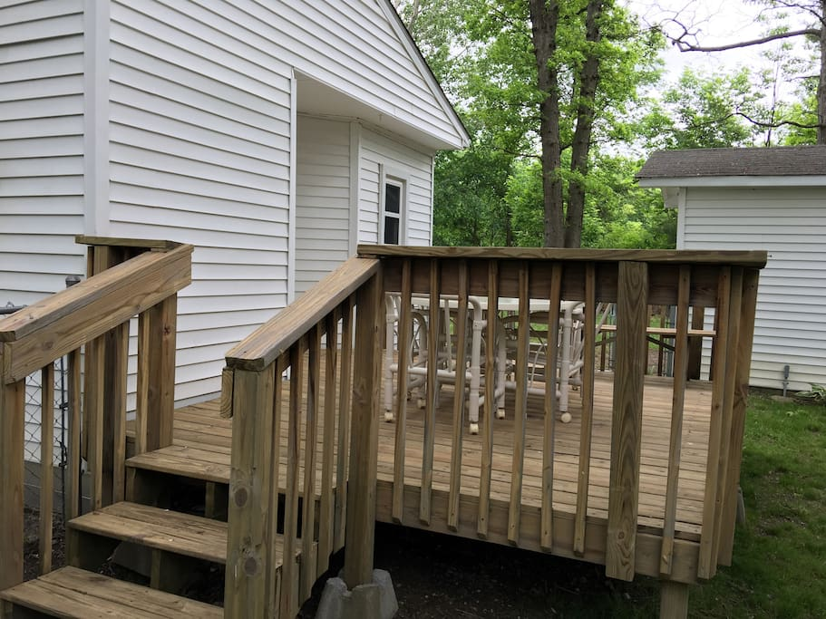 Deck with grill and patio