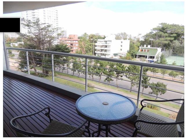 Balcón con vista despejada