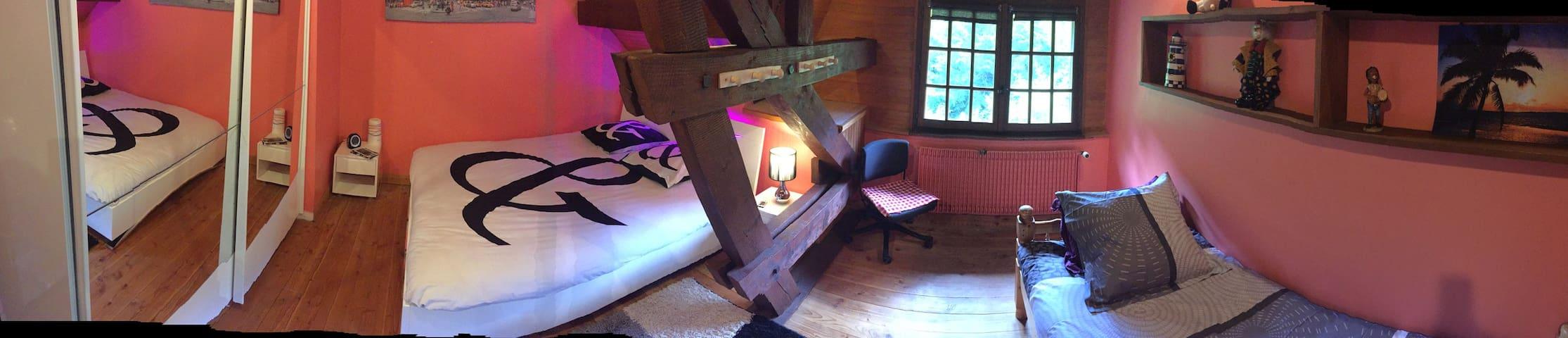 Chambre spacieuse dans une maison de caractère - Saint-Hippolyte - Inap sarapan