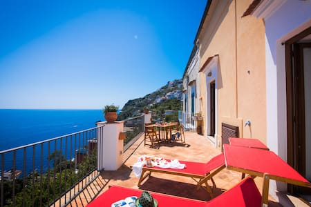 Villa at 200 mt from the beach, terrace sea view - Praiano - Villa