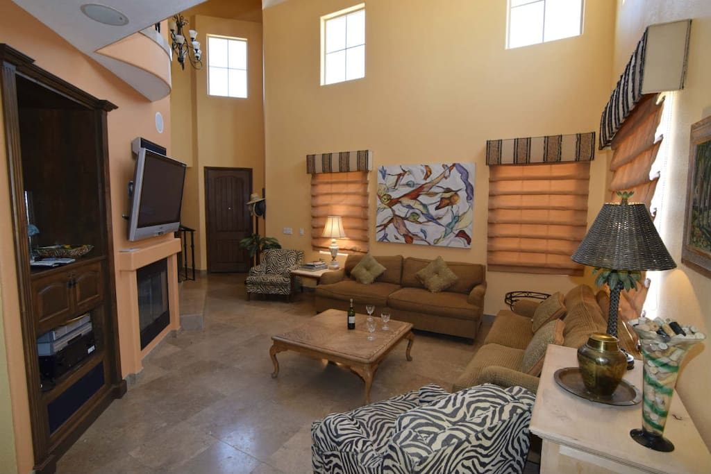 El Dorado Ranch San Felipe Rental villa 8-4  -  TV in living room