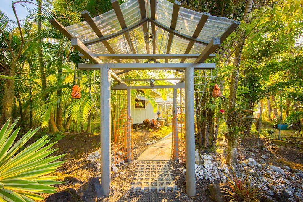 Entering the Secret Garden.