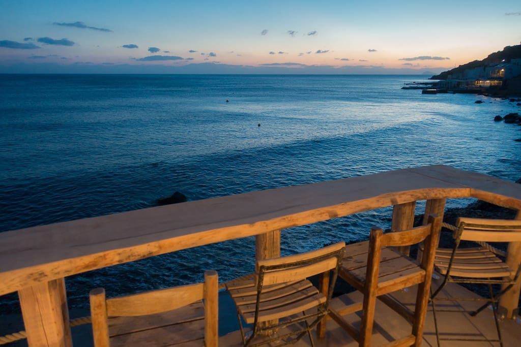 View from your private balcony. Perfect for morning coffee or evening drinks