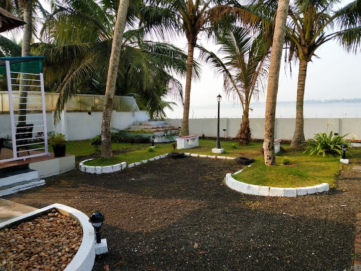 Backwater facing Villa with all amenities