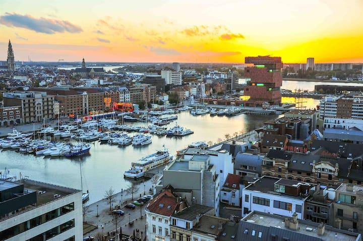 Best view in Antwerp!